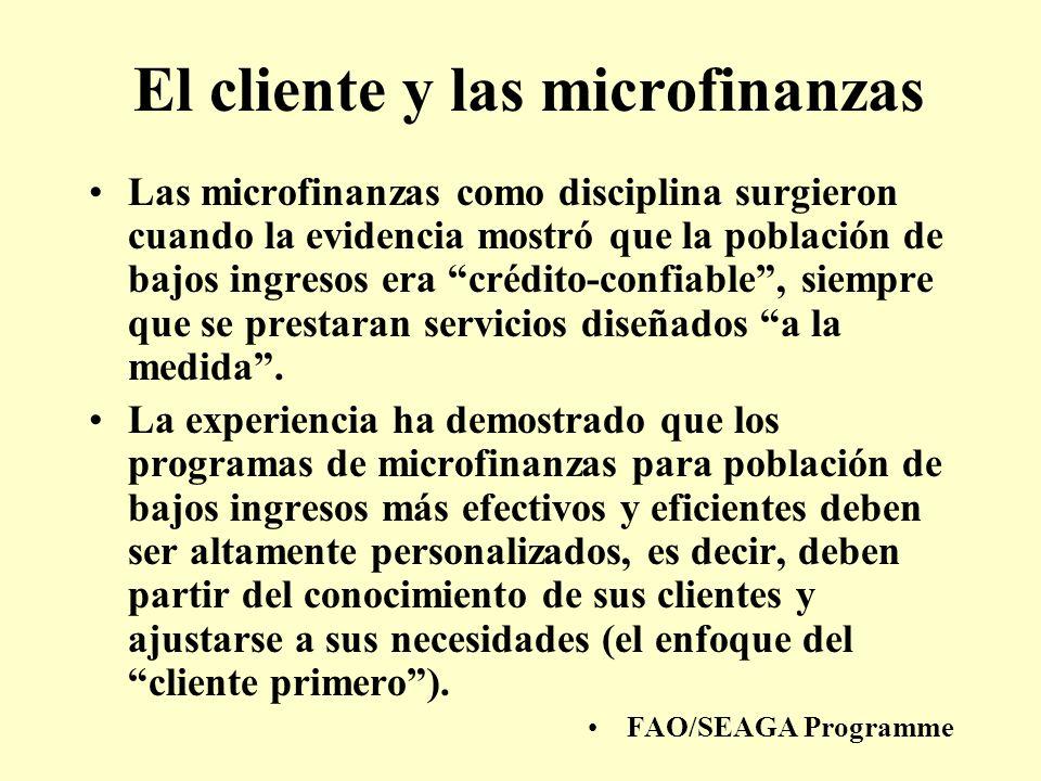 El cliente y las microfinanzas