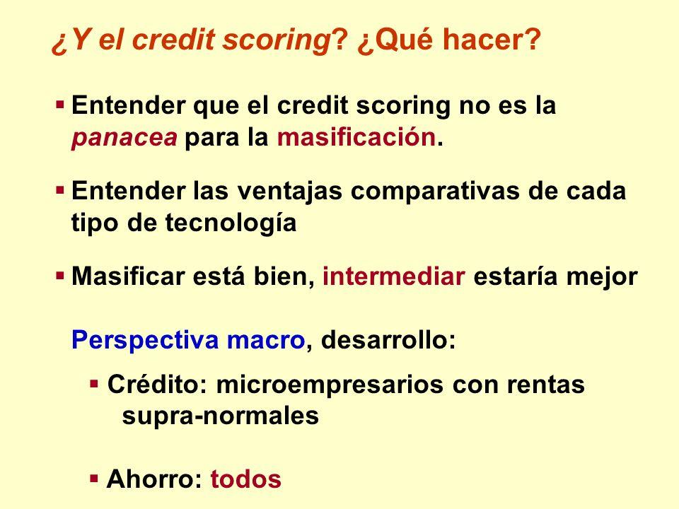 ¿Y el credit scoring ¿Qué hacer