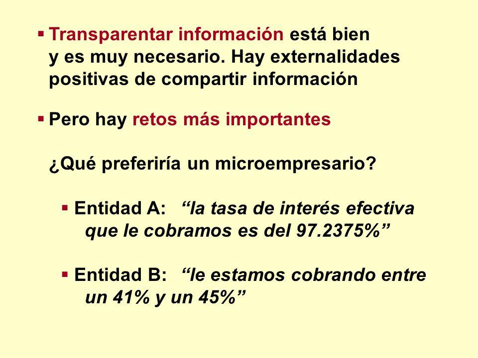 Transparentar información está bien