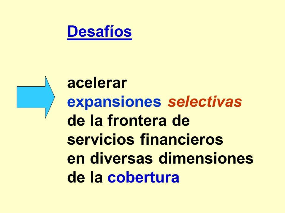 expansiones selectivas de la frontera de servicios financieros