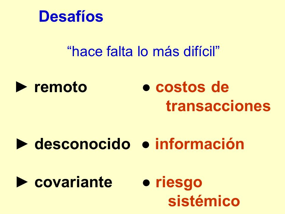 ► desconocido ● información ► covariante ● riesgo sistémico