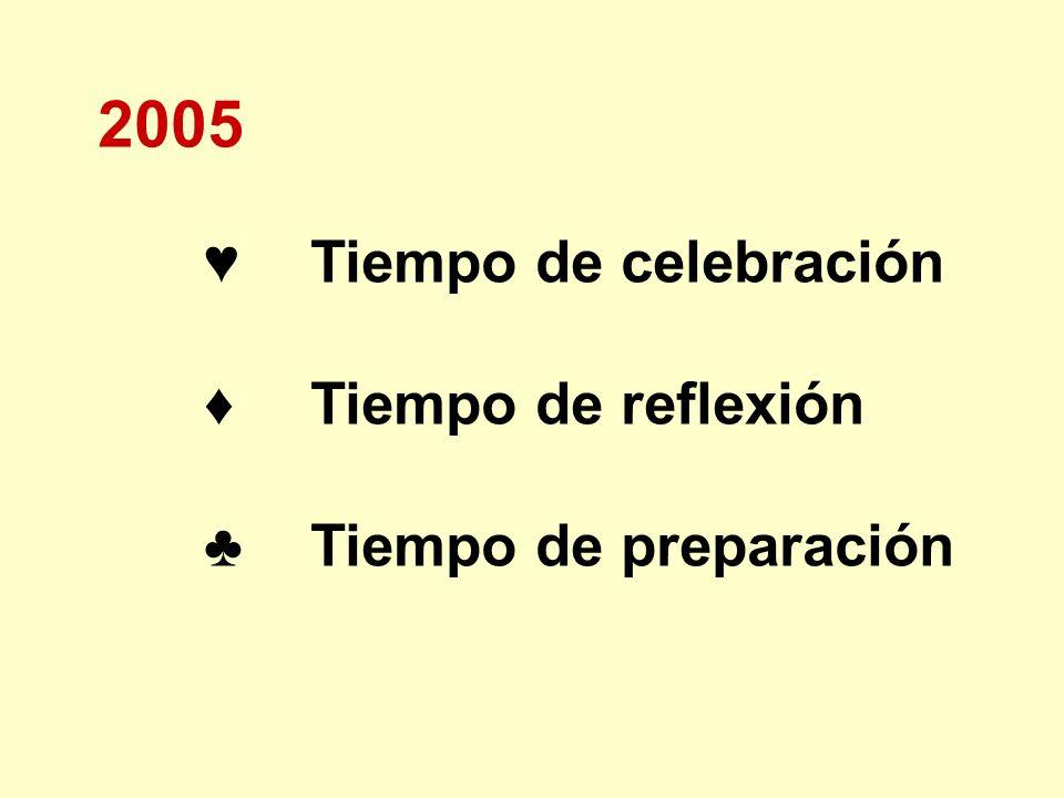 2005 ♦ Tiempo de reflexión ♣ Tiempo de preparación