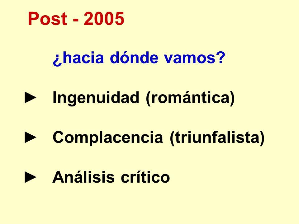 Post - 2005 ¿hacia dónde vamos ► Ingenuidad (romántica)