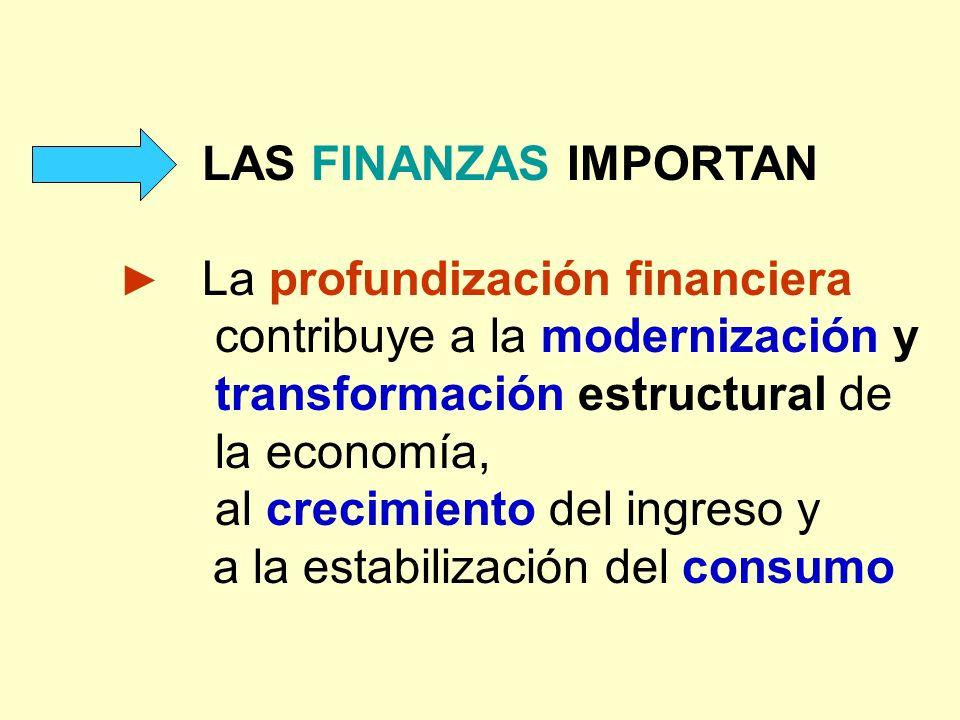 ► La profundización financiera