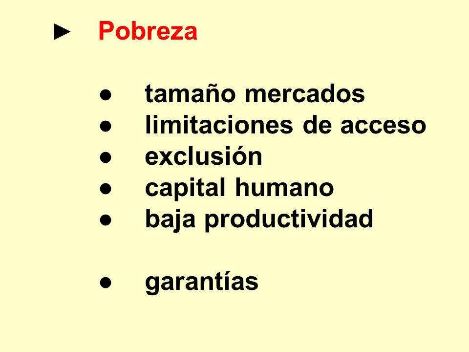 ● limitaciones de acceso ● exclusión ● capital humano