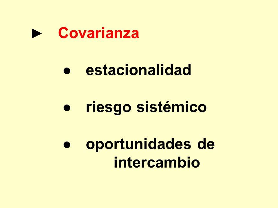 ● estacionalidad ● riesgo sistémico ● oportunidades de intercambio