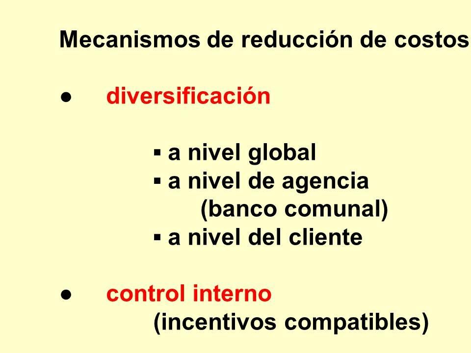 Mecanismos de reducción de costos: