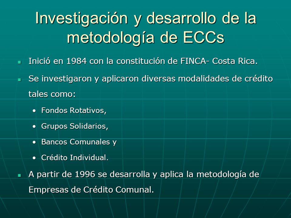 Investigación y desarrollo de la metodología de ECCs