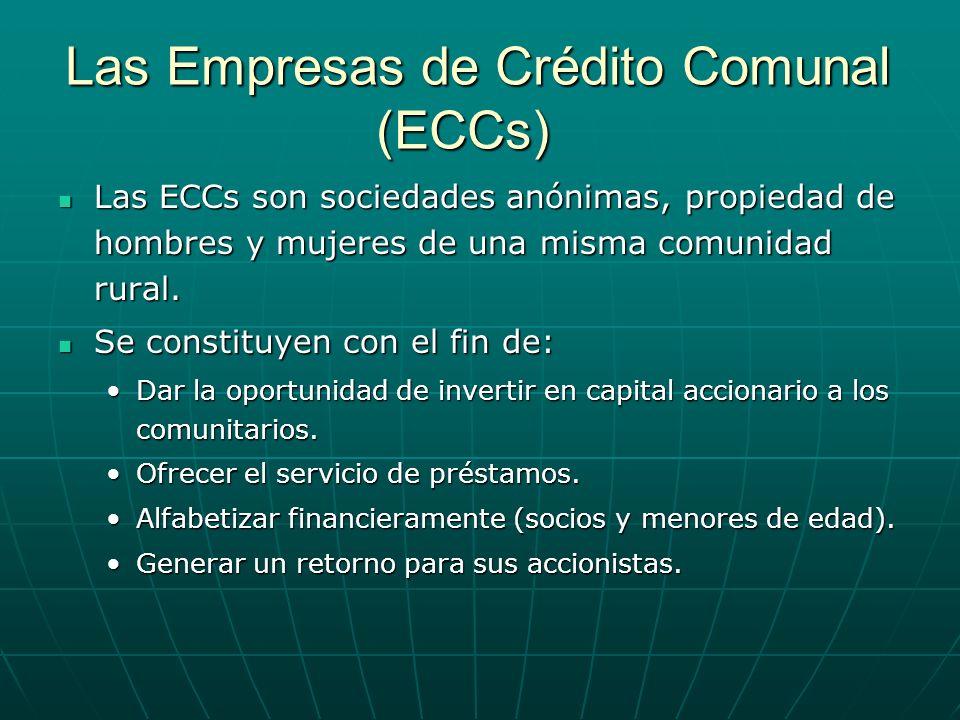 Las Empresas de Crédito Comunal (ECCs)