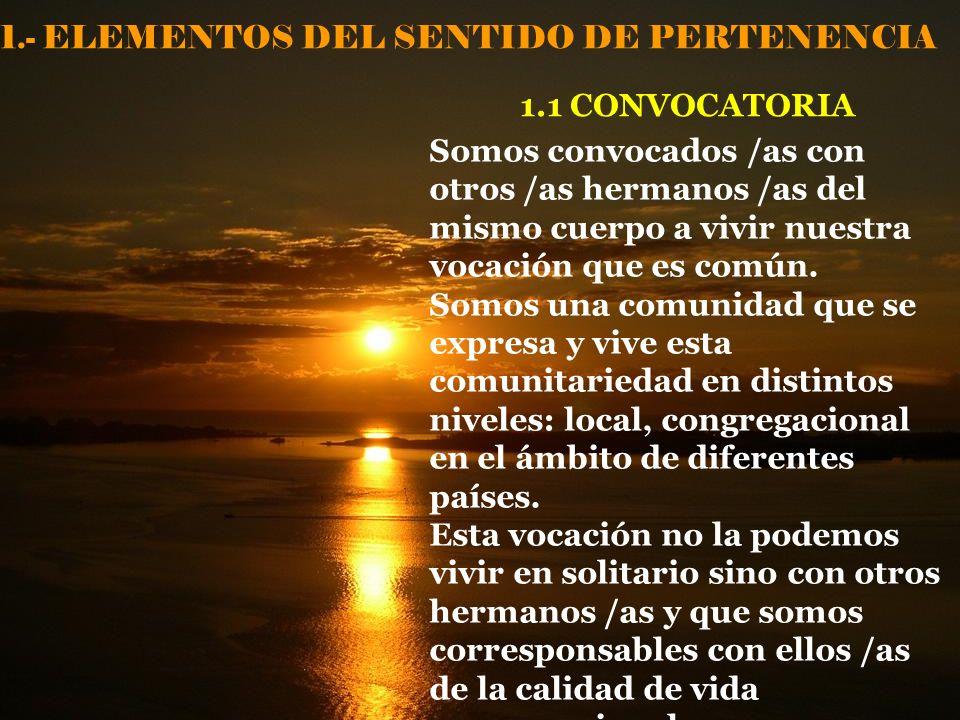 1.- ELEMENTOS DEL SENTIDO DE PERTENENCIA