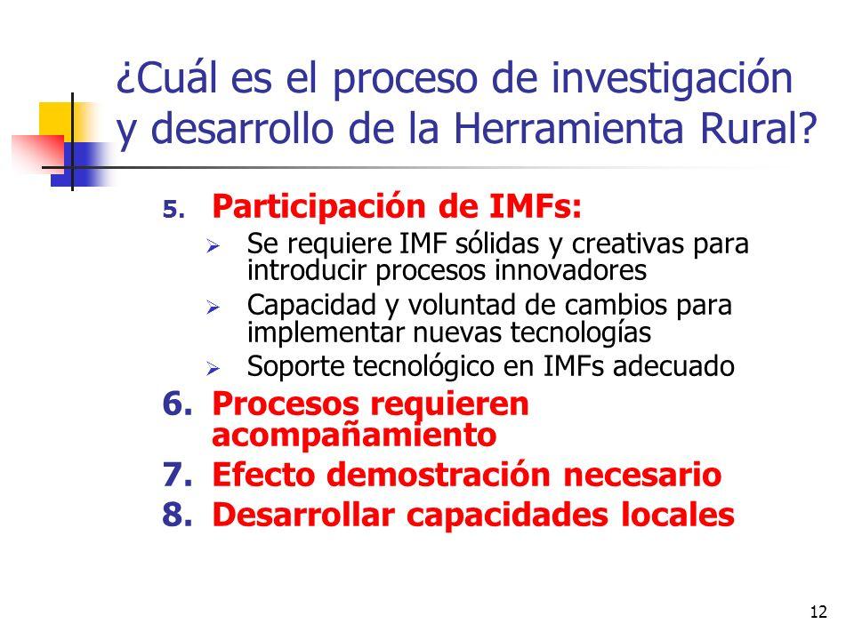 ¿Cuál es el proceso de investigación y desarrollo de la Herramienta Rural