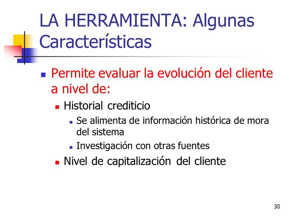 LA HERRAMIENTA: Algunas Características