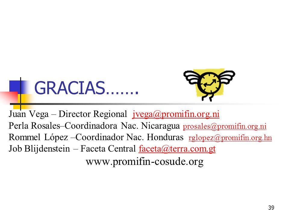 GRACIAS……. www.promifin-cosude.org