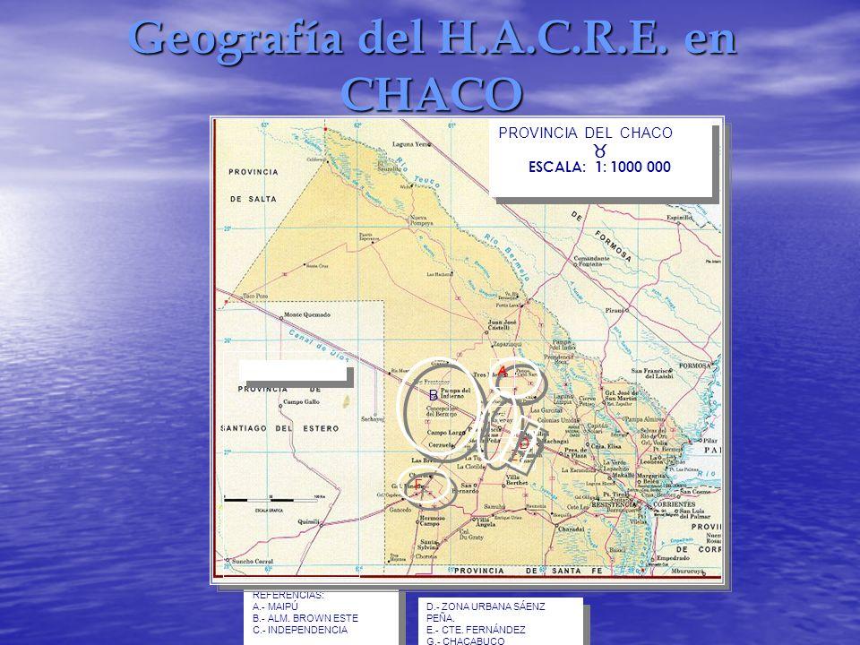Geografía del H.A.C.R.E. en CHACO