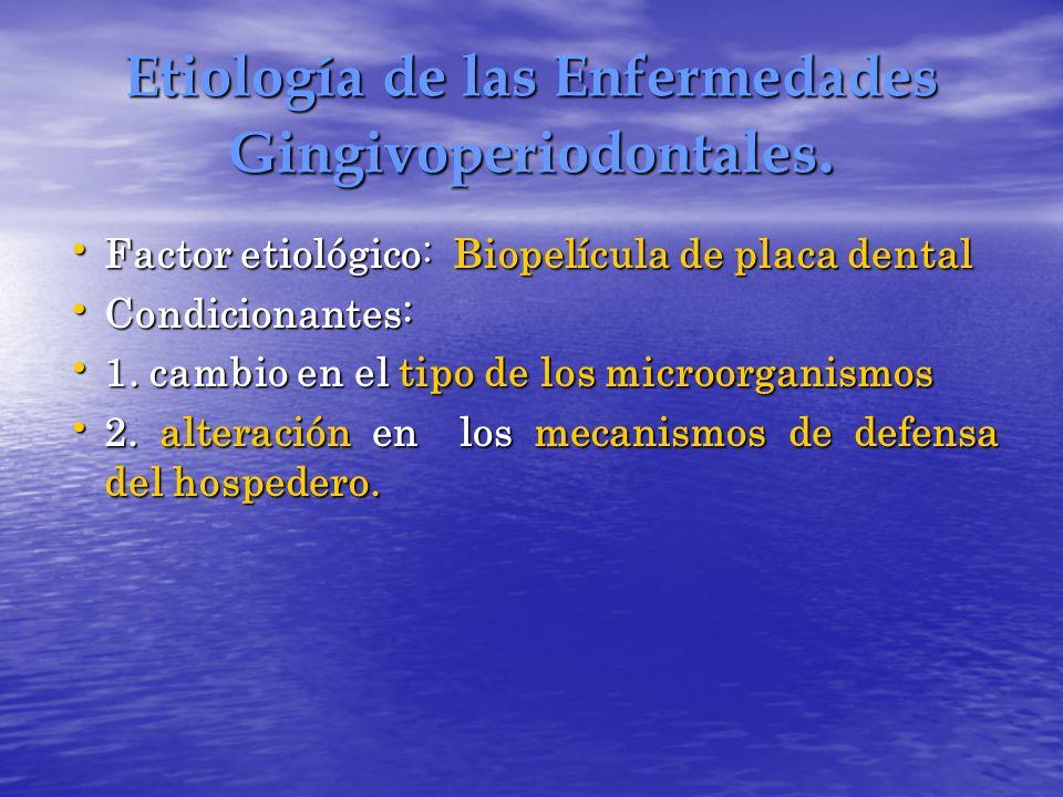 Etiología de las Enfermedades Gingivoperiodontales.