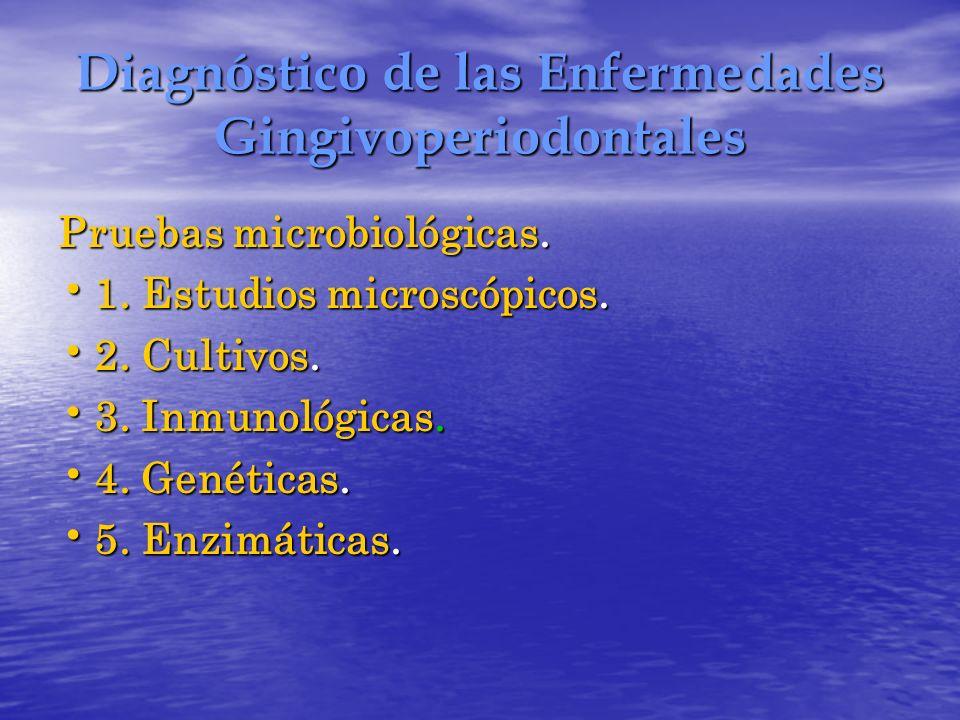Diagnóstico de las Enfermedades Gingivoperiodontales