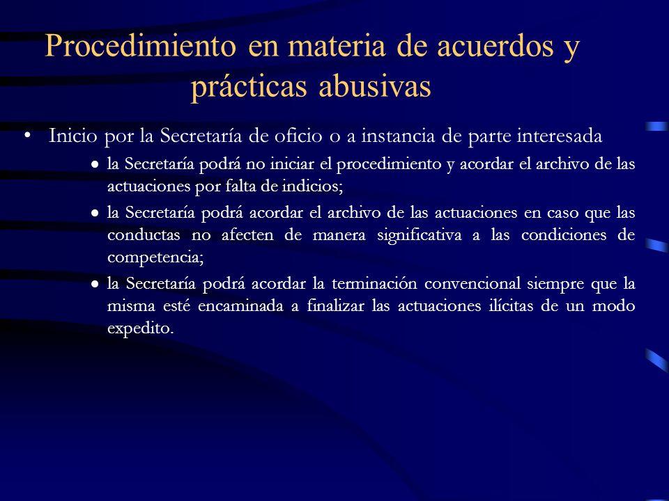 Procedimiento en materia de acuerdos y prácticas abusivas