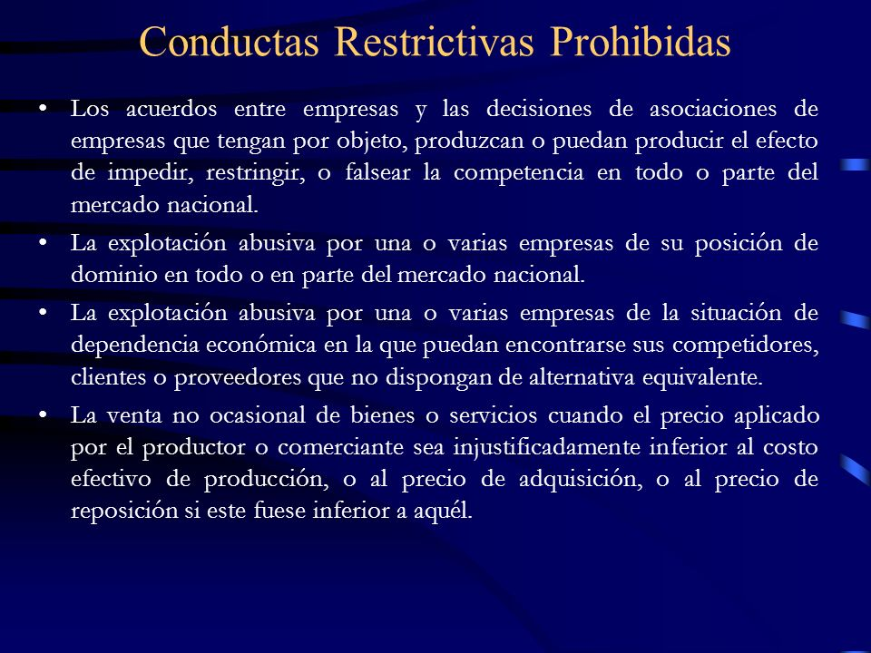 Conductas Restrictivas Prohibidas