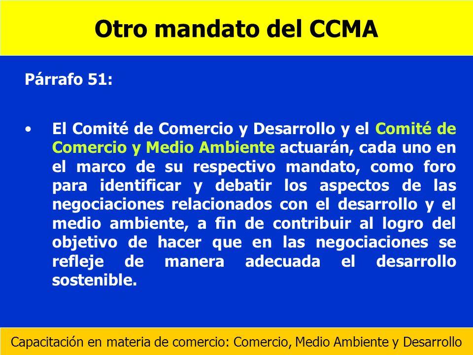 Otro mandato del CCMA Párrafo 51: