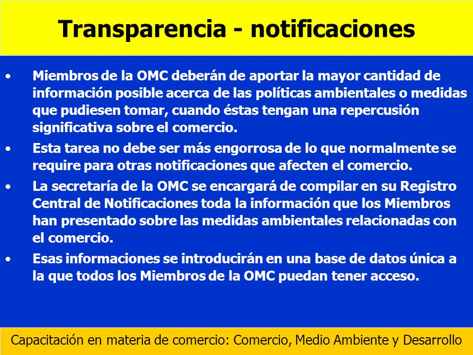 Transparencia - notificaciones