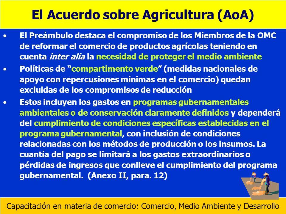 El Acuerdo sobre Agricultura (AoA)