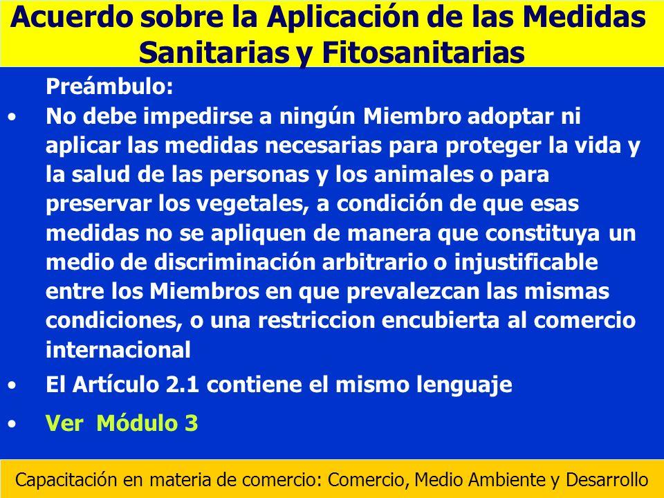 Acuerdo sobre la Aplicación de las Medidas Sanitarias y Fitosanitarias