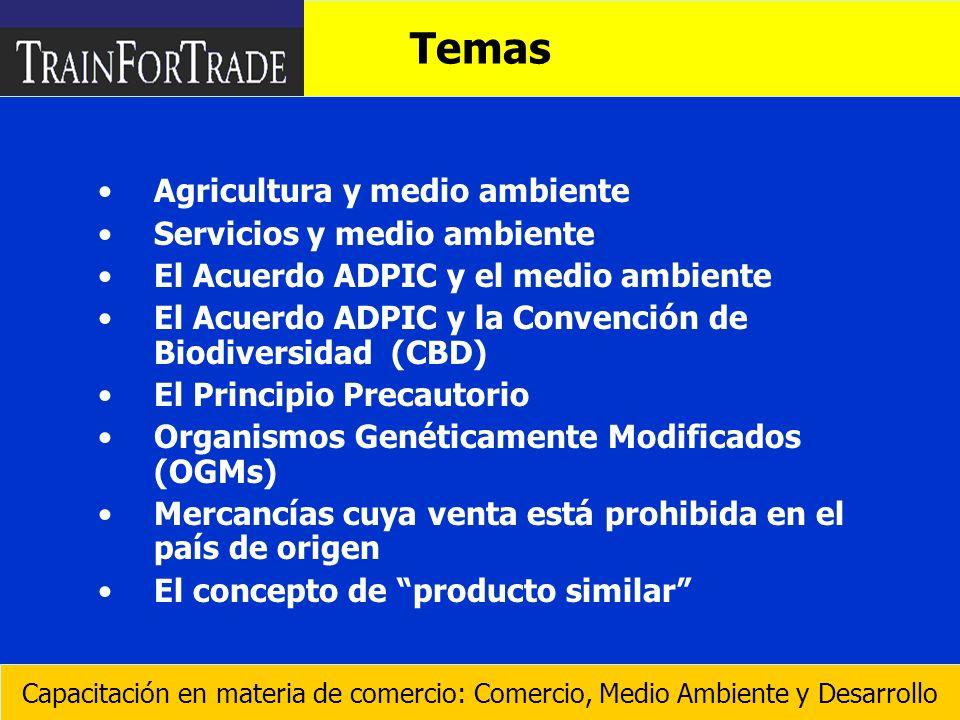 Temas Agricultura y medio ambiente Servicios y medio ambiente