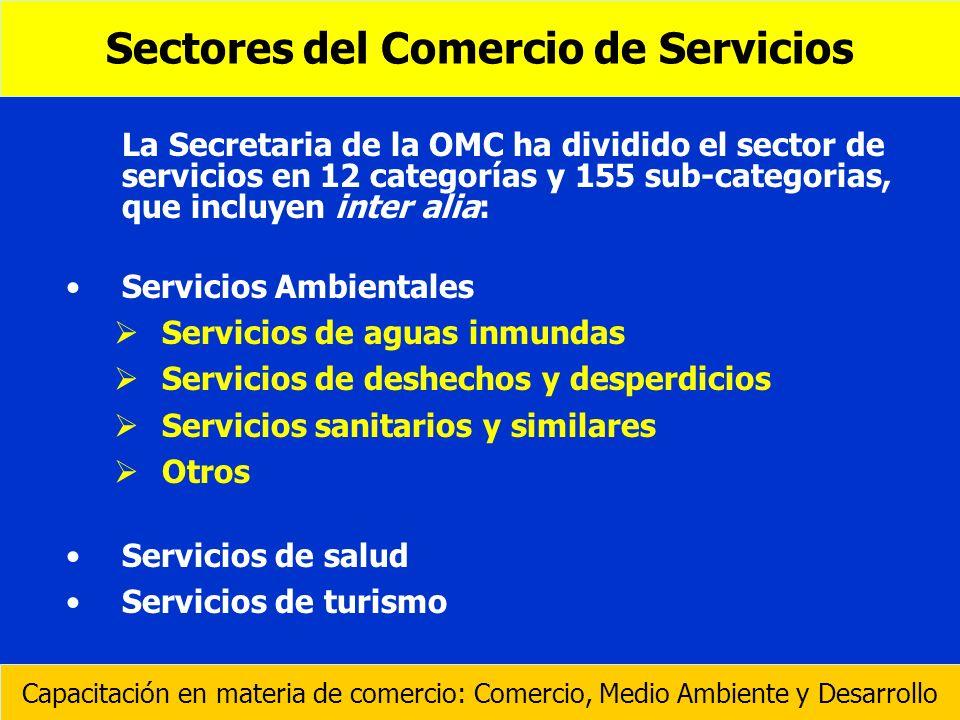 Sectores del Comercio de Servicios