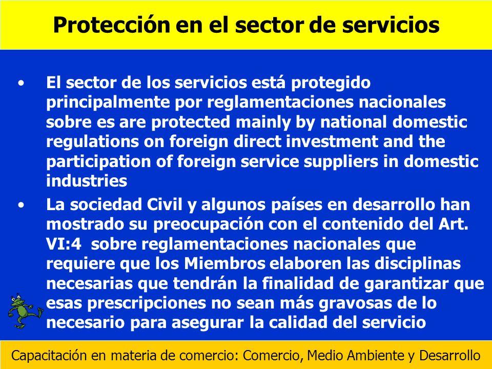 Protección en el sector de servicios