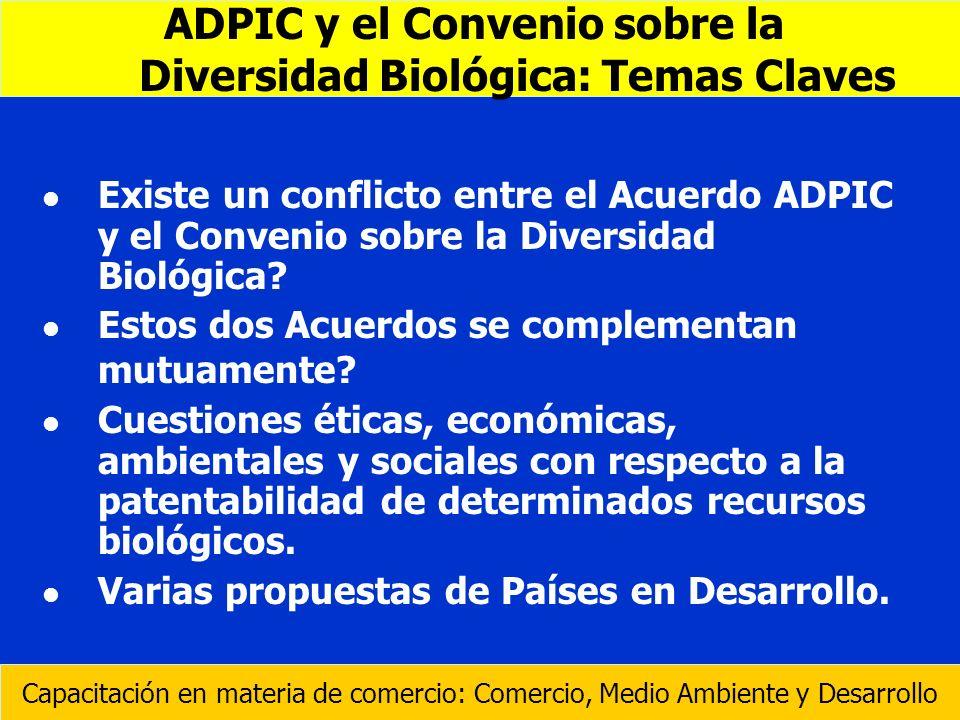 ADPIC y el Convenio sobre la Diversidad Biológica: Temas Claves