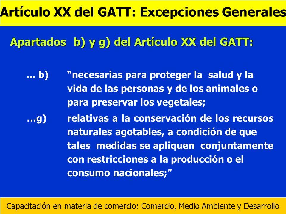 Artículo XX del GATT: Excepciones Generales