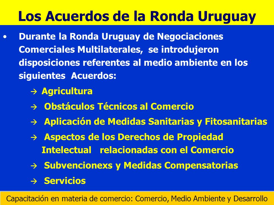 Los Acuerdos de la Ronda Uruguay