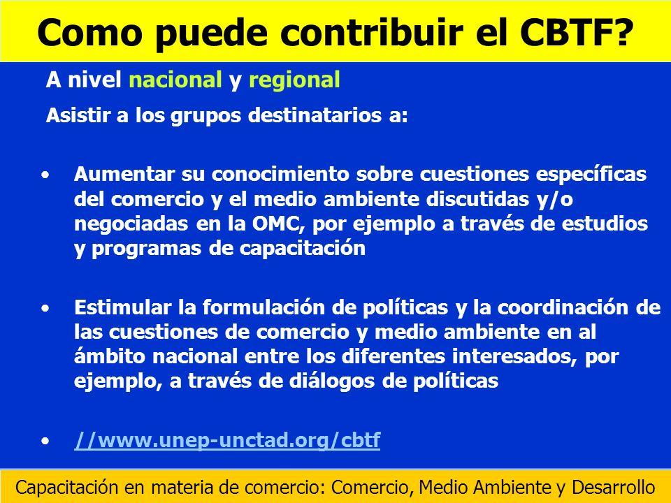 Como puede contribuir el CBTF