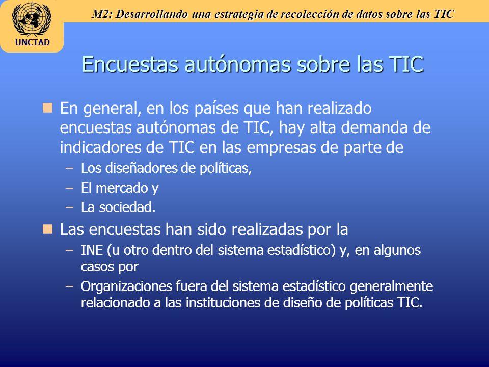 Encuestas autónomas sobre las TIC