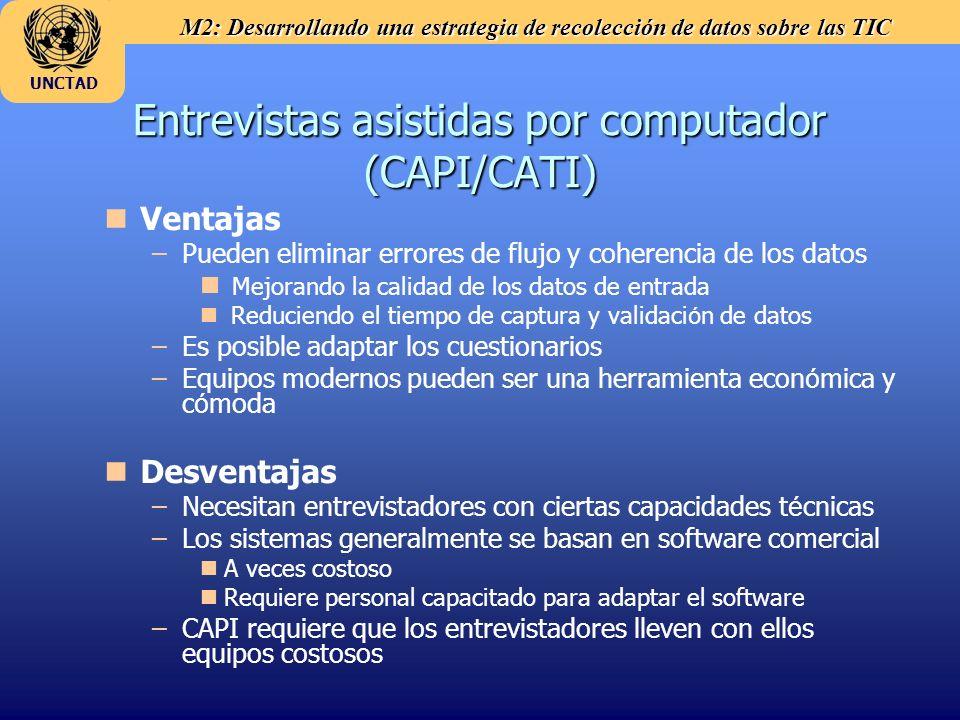 Entrevistas asistidas por computador (CAPI/CATI)
