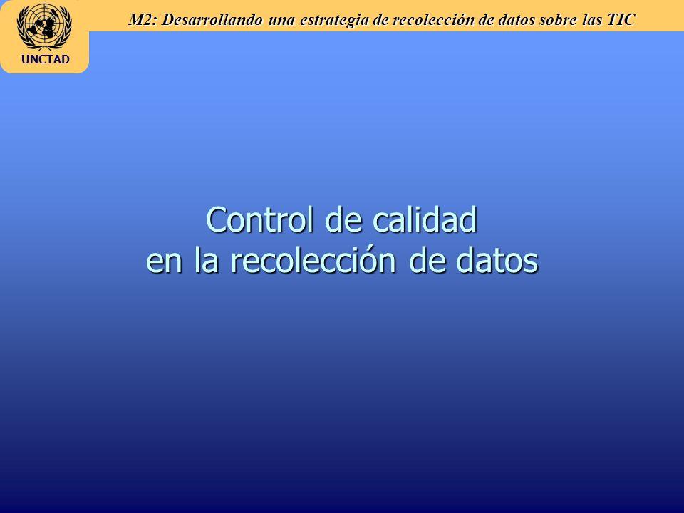 Control de calidad en la recolección de datos