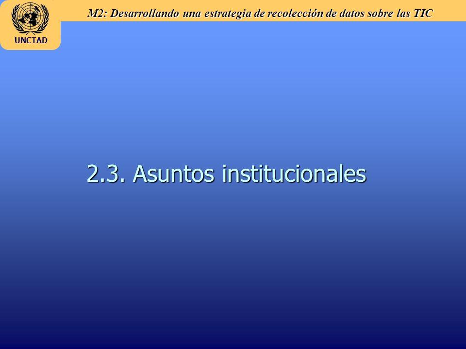 2.3. Asuntos institucionales