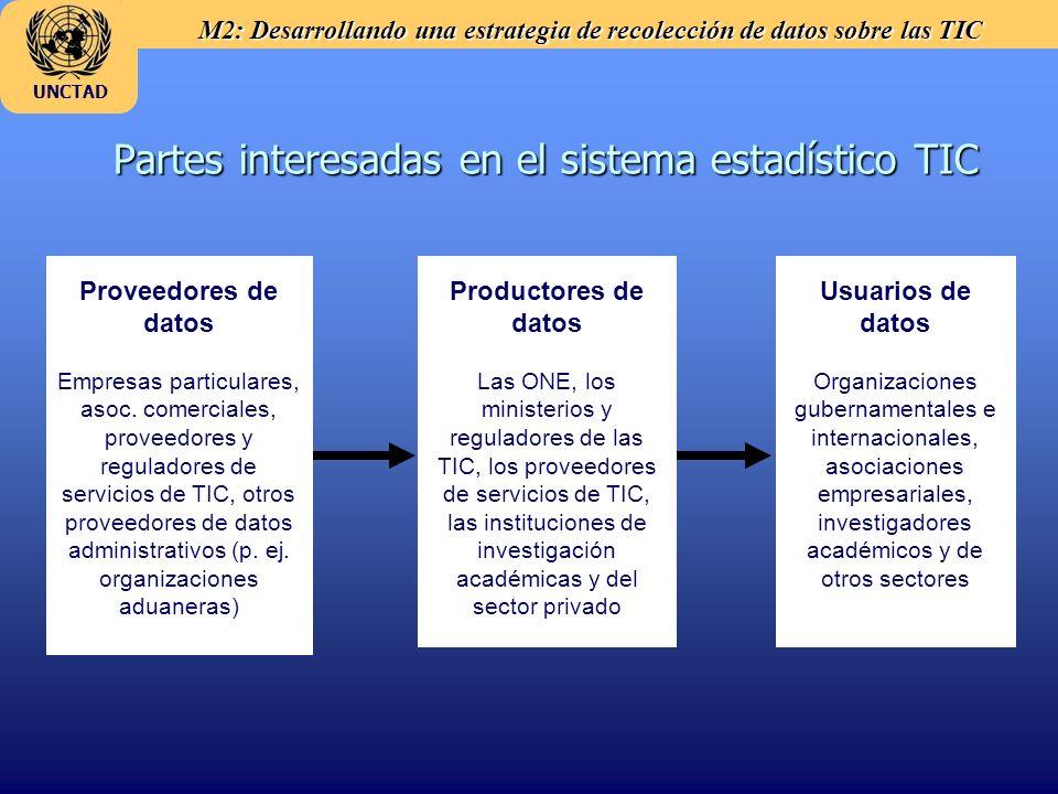 Partes interesadas en el sistema estadístico TIC