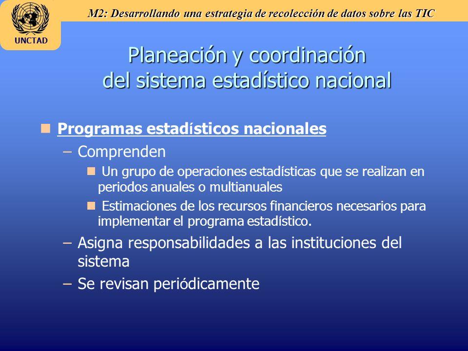 Planeación y coordinación del sistema estadístico nacional