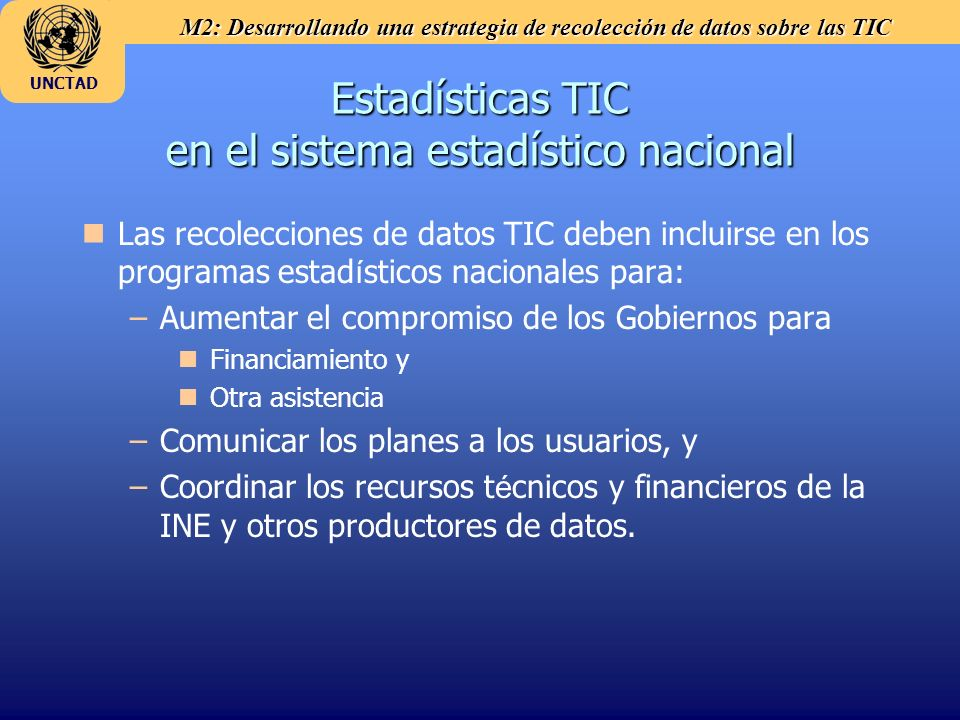 Estadísticas TIC en el sistema estadístico nacional