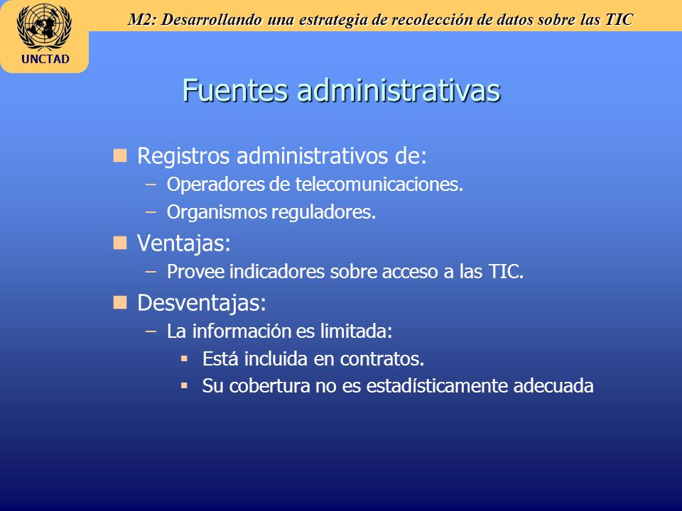 Fuentes administrativas