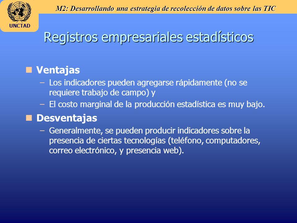 Registros empresariales estadísticos