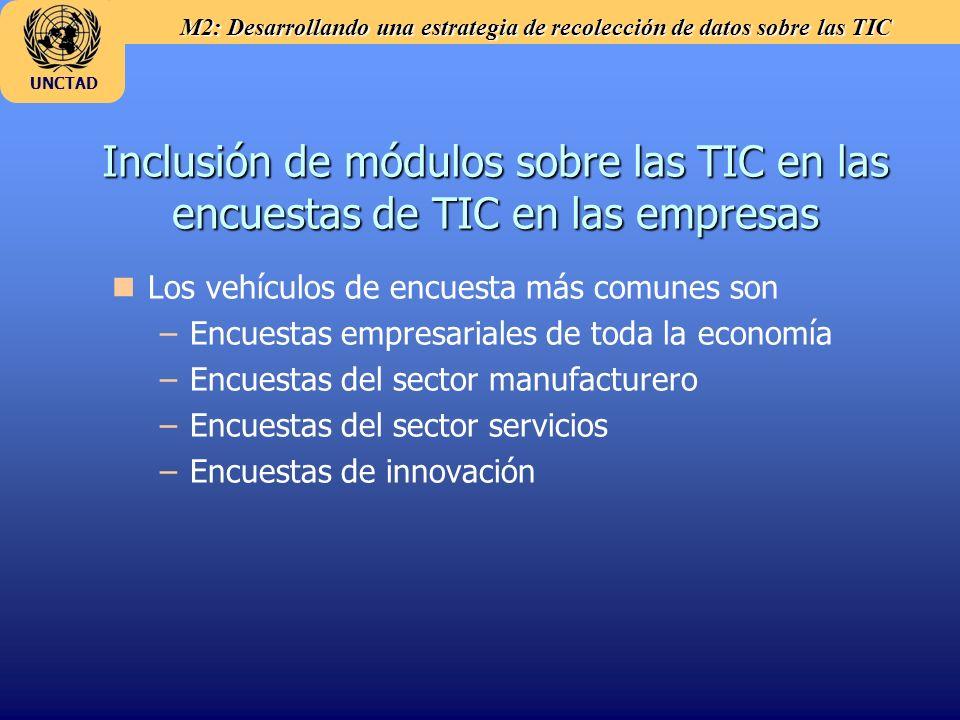Inclusión de módulos sobre las TIC en las encuestas de TIC en las empresas