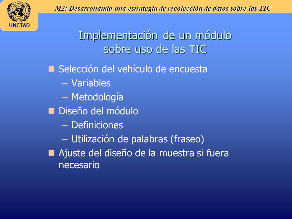 Implementación de un módulo sobre uso de las TIC