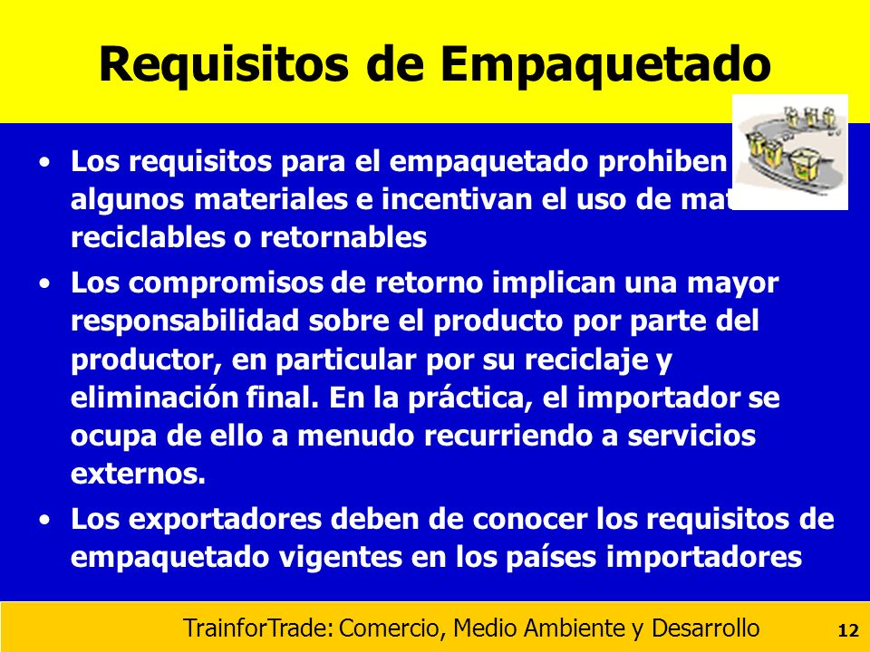 Requisitos de Empaquetado