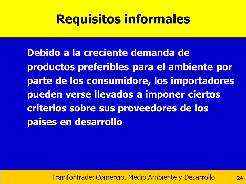 Requisitos informales