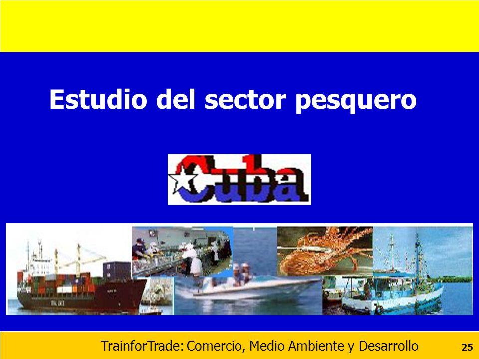 Estudio del sector pesquero