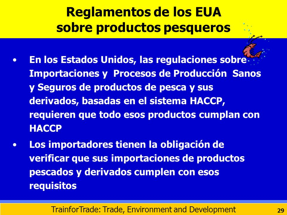 Reglamentos de los EUA sobre productos pesqueros