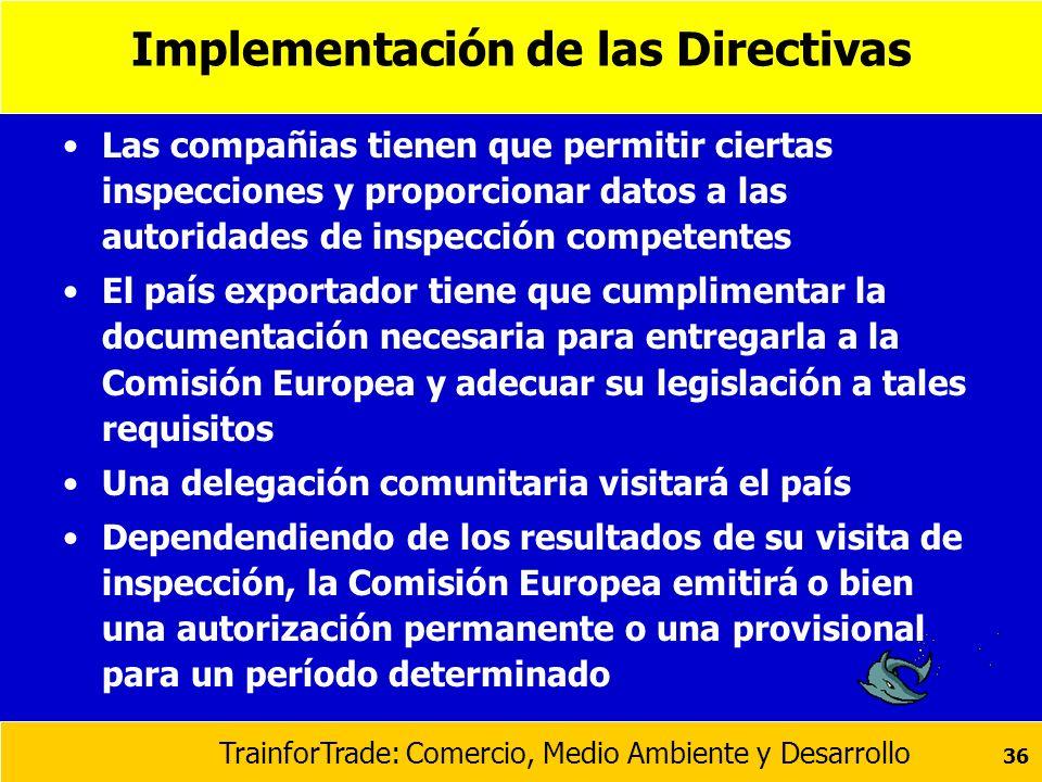 Implementación de las Directivas