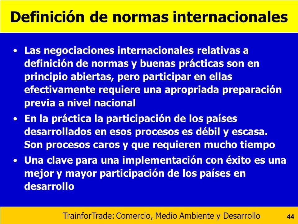 Definición de normas internacionales